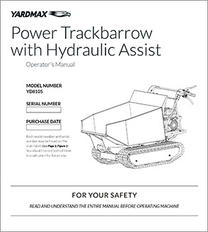 YD8105 - Power Trackbarrow w/ Hydraulic Assist