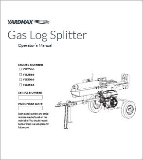 YU2566, YU2866, YU3066, YU3566 - Full Beam Gas Log Splitters