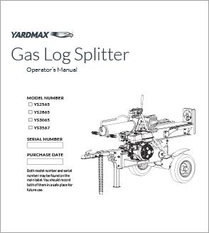 YS2565, YS2865, YS3065, YS3567 - Half Beam Gas Log Splitters