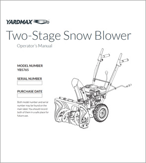 YB5765 - Two-Stage Snow Blower — 22″