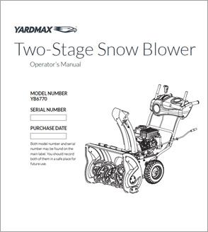YB6770 - Two-Stage Snow Blower — 26″ w/Dashboard