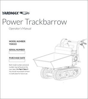 YD8103 - Power Trackbarrow w/ Gas Shock Assist – Hopper