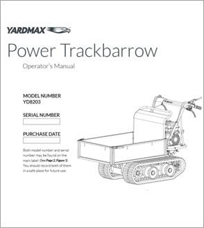 YD8203 - Power Trackbarrow w/ Gas Shock Assist – Flatbed