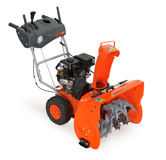 2 stage snow blower yardmax 2 stage 26 in snowblower with dashboard and 28976