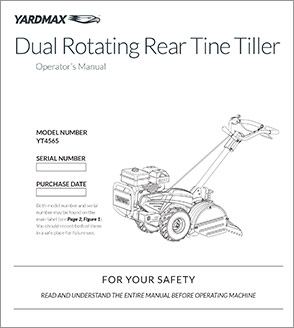 YT-4565 - Dual Rotating Rear Tine Tiller