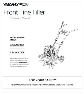 YT5328 - Compact Front Tine Tiller