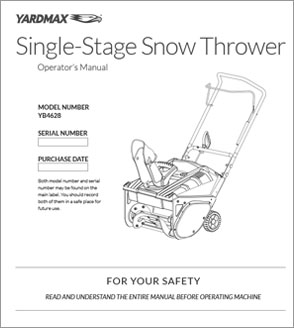 YB4628 - Single-Stage Snow Thrower Engine