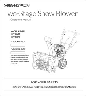 YB6270 - Two-Stage Snow Blower — 24″