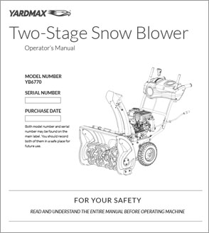 YB6770 - Two-Stage Snow Blower — 26″ w/Dashboard