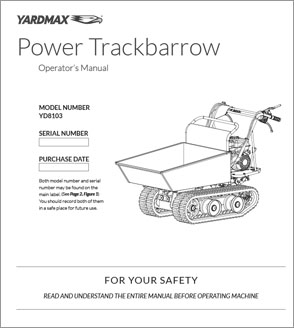 YD8103 - Power Trackbarrow w/ Gas Shock Assist – Hopper