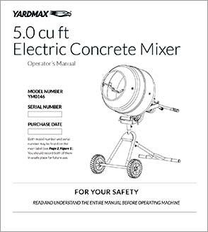 YM0115 - 4.0 Cu. Ft. Concrete Mixer