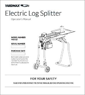 YS0552 - Electric Log Splitter