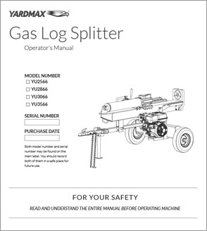 YU2566, YU2866, YU3066, YU3566 - Full Beam Gas Log Splitters